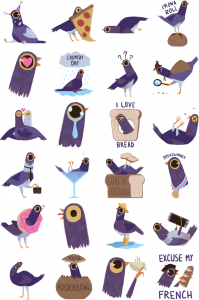 trash dove stickers on facebook