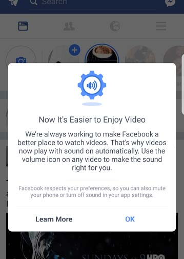 How To Stop Facebook Auto-playing Videos With Sound | goosed ie