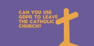 can you use gdpr to leave the catholic church