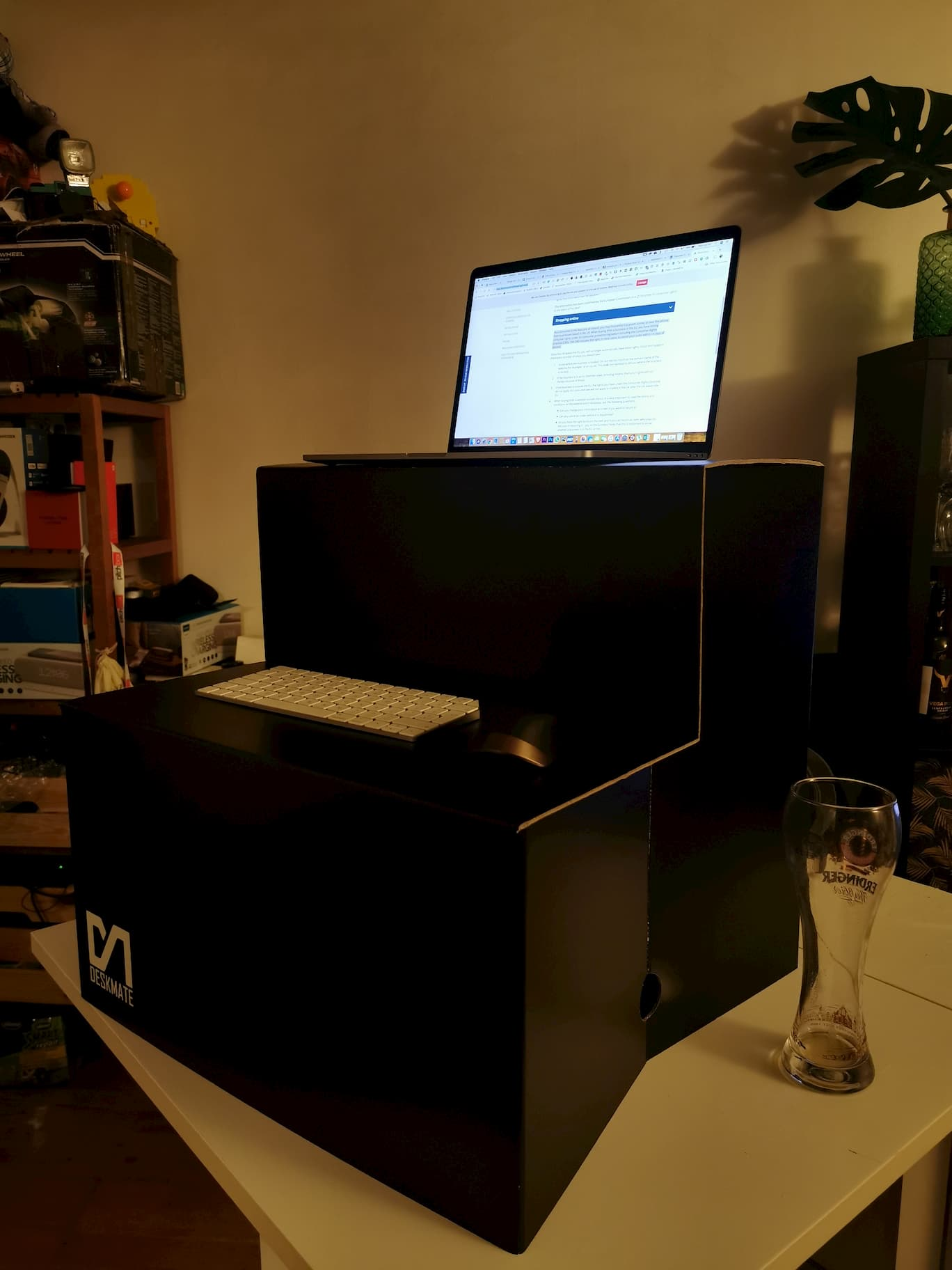 deskmate cheap standing desk alternative