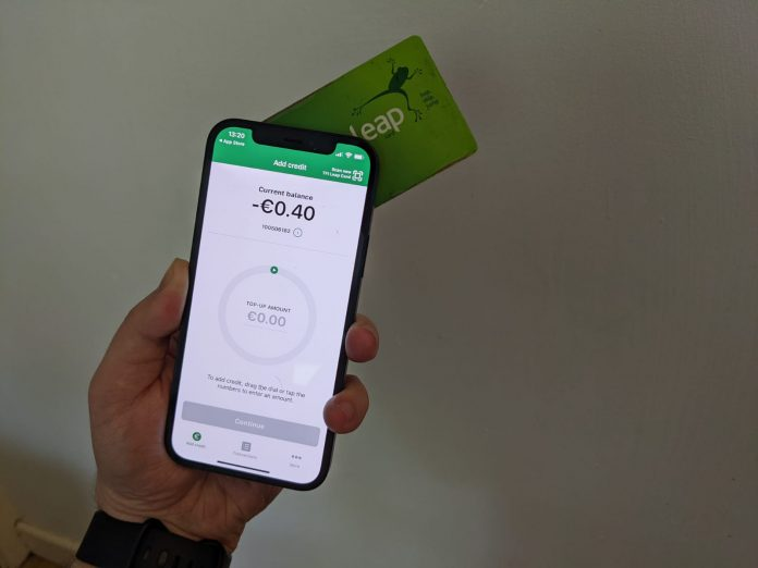 topping up leap card with iphone